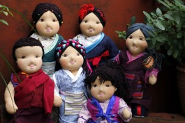 A selection of our traditional Tibetan dolls