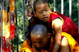 Tibetan Buddhist monks