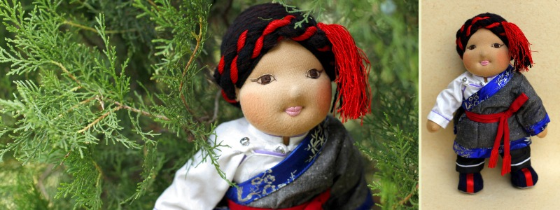Norbu - Traditional Tibetan Bopa Doll