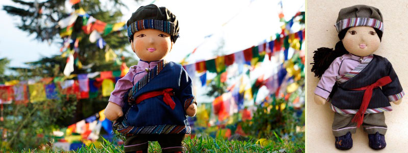 Norsang - Traditional Tibetan Bopa Doll