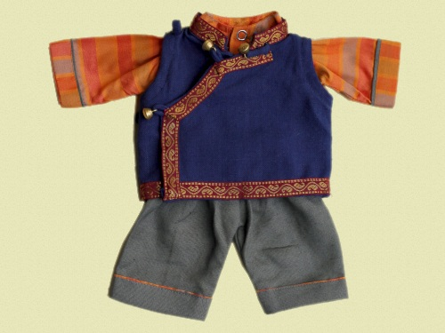 Tibetan Style Waistcoat, Shirt and Pants