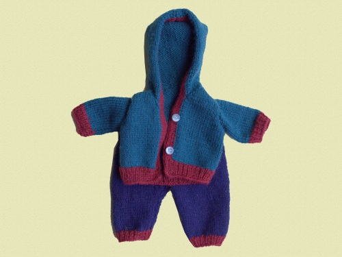 Woollen Hooded Cardigan and Pants