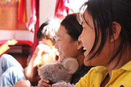 Enjoying puppets