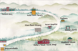 Dharamsala workshop map