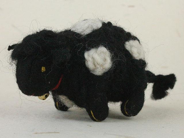 Felt Animals Sheep Black