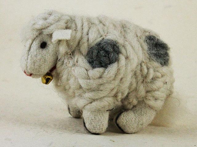 Felt Animals Sheep White