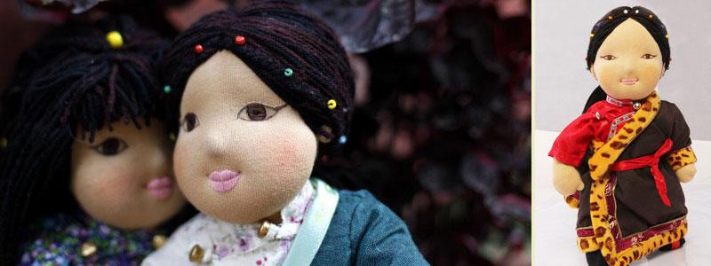 Dekyi - Traditional Tibetan Bopa Doll