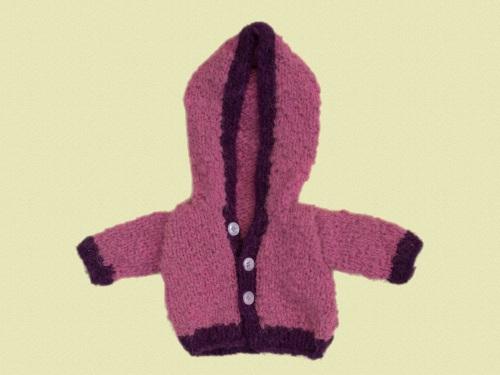 Woollen Hooded Cardigan