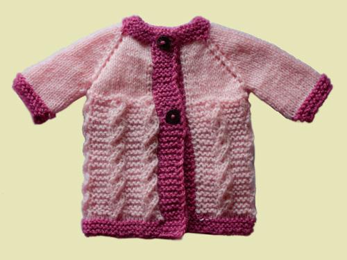 Long Girl Jacket - Knitted Garment