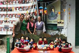 Our stall at HH Dalai Lama teaching