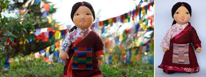Dolkar - Traditional Tibetan Bopa Doll