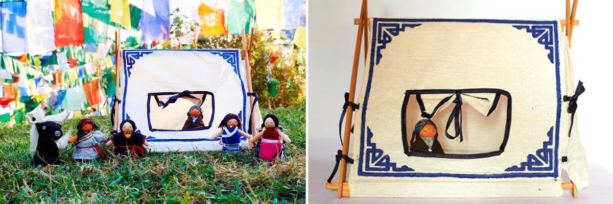 Traditional Tibetan Dollhouse Tent
