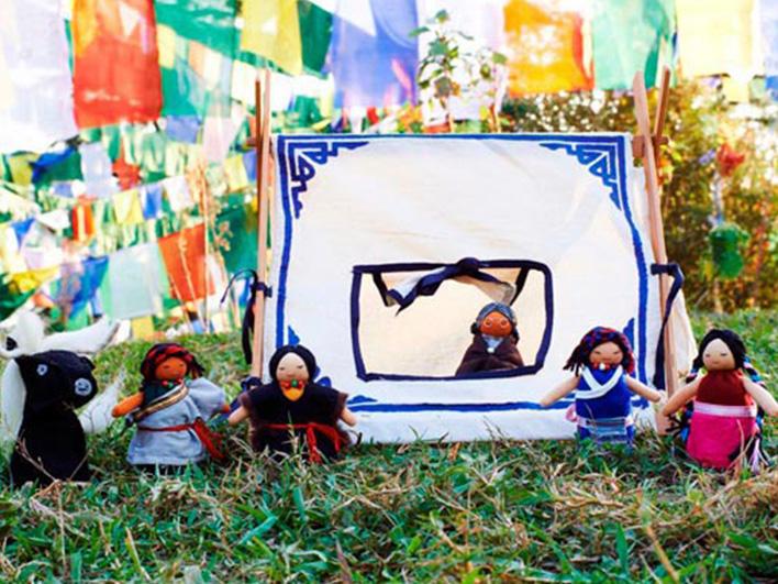 Mini Dolls, Animals and Tent